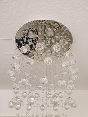 prunkvolle hänge lampe mit kristallen