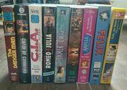 9 VHS-Kassetten Mix