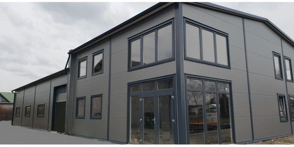 Stahlhalle Werkstatthalle Gewerbehalle mit Beuro-