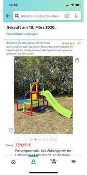 Spielturm Kletterturm mit Rutsche für