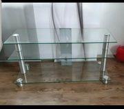 TV-Rack -Tisch Regal Glas hochwertig