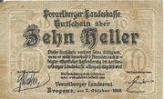 10 Heller Gutscheine Notgeld Vorarlberger