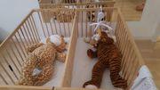 Kinderlaufstall höhenverstellbar Naturholz - auch als