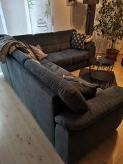 Sofa Couch Rundecke mit Federkern