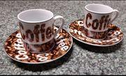 Espressotassen und Teller 2 Stück