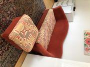 Schlafsofa 2-Sitzer mit Hocker