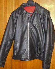 Louis Motorrad Leder Jacke schwarz