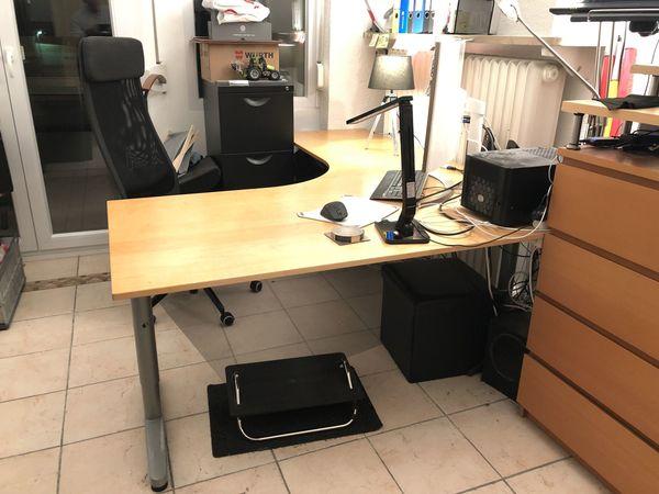 Schreibtisch Mit Viel Platz Und Höhenverstellung Ikea Galant In