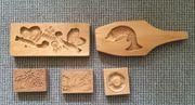 Handgeschnitzte Holzdekorationen vintage