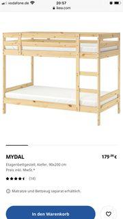 Ikea Stockbett mit zwei Matratzen