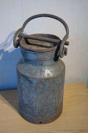 Antike Milchkanne Massiver Stahl ca