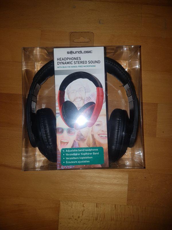 Kopfhörer NEU Leder Kopf Hörer