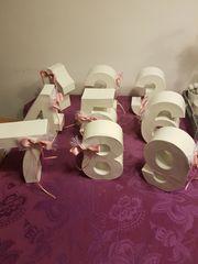 Tischnummer für Hochzeitstische