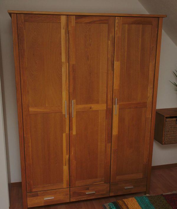 Schlafzimmer-Schrank New Oak (3-türig, geölte Eiche, sehr gut ...