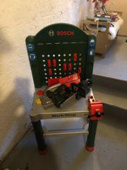 kinderwerkbank Bosch Kreis und Motorsäge