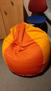 Neuwertiger bequemer Sitzsack orange Jako-o
