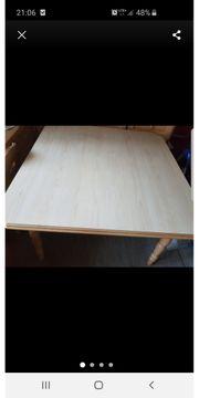 Tisch Massivholz 118x118cm Tisch rustikal