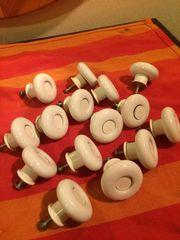 Möbelgriffe Porzellan weiß