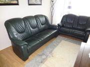 Hochwertige Leder Sitzgarnitur 2 Sofa