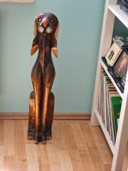 Deko Hund aus Holz