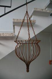 Blumenhängeampel Metall Rostoptik