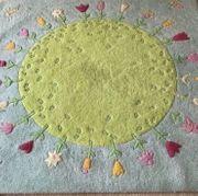 HABA Teppich Blumenplanet 100 Wolle