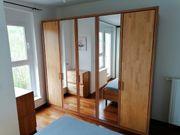 Erle teilmassiv Schlafzimmer komplett Bett