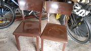 2 Alte küchenstühle