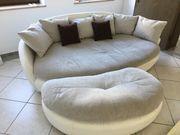 Sofa Couch mit Hocker abzugeben-