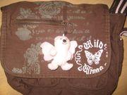 braun rosa Handtasche