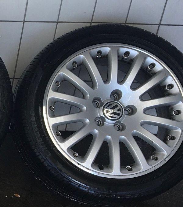 VW Alufelgen 17 Zoll Sommerreifen