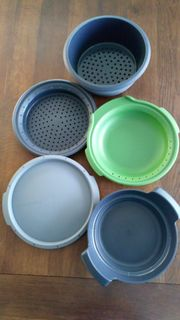 Sonderausgabe Tupper Mikro-Gourmet grau grün