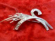 Dekorative Anstecknadel echt Silber