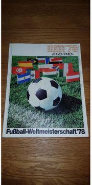 WM Fußball-Weltmeisterschaft 78 Argentinien Heft
