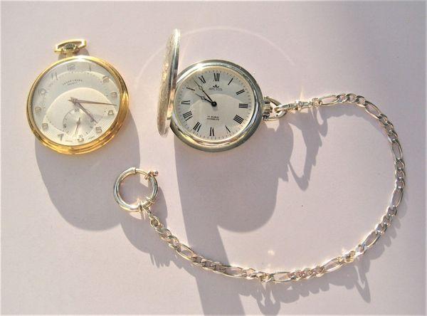 TASCHENUHREN - Stralsund Knieper - Verk. die abgebildete, alte einwandfrei funktionierende Taschenuhr Arctos , 835 Silber Gehäuse, 17 Rubis mit passendem Silberkettchen.Die zweite abgebildete Uhr gibt es dazu. Es handelt sich um eine alte Schweizer Taschenuhr Favre-Leu - Stralsund Knieper