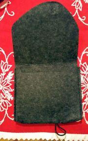 Filztasche grau schwarz NEU 2