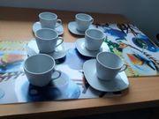 6 Kaffeetassen 5 Untertellern