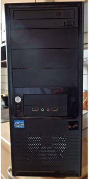 Desktopcomputer mit ASROCK-Mainboard Bildschirm