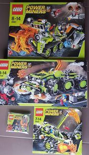 4 Sets LEGO POWER MINERS