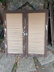 Klappläden Holz Fensterläden H 128cm