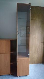 Vitrine Schrank Regal mit Glastür