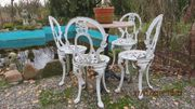 Sehr alte Stuhl Zinnguß Jugendstil