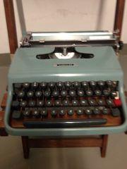 Schreibmaschine olivetti lettera 22 olivgrüne