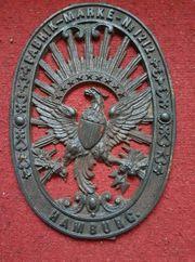Eisenguss Adler Wappen der Hamburger