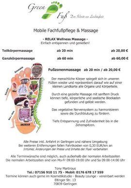 Mobile Fußpflege Fachfusspflege Pediküre Maniküre: Kleinanzeigen aus Gerlingen - Rubrik Kosmetik und Schönheit
