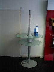 Designer Glastisch Stehtisch rund