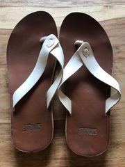 Cinque Sandalen aus Leder Gr