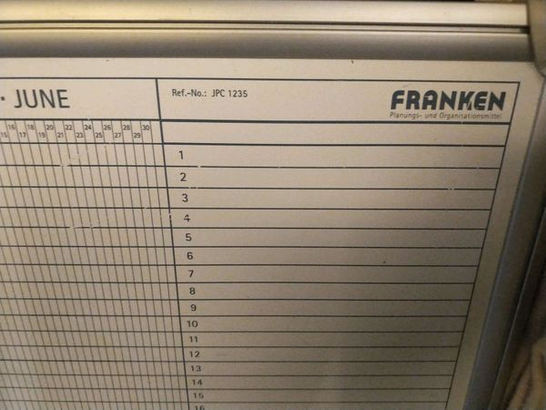 Franken Jahresplaner Tafel JPC 1235