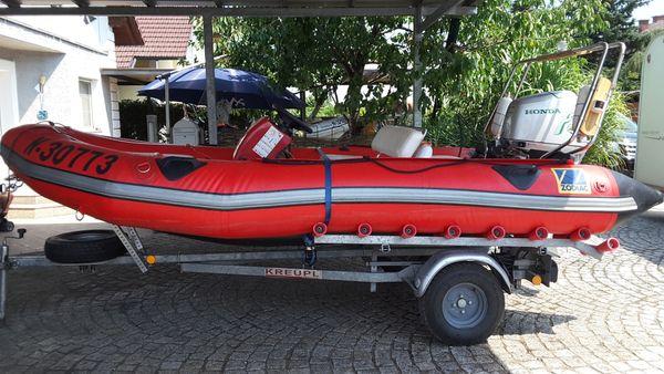 Zodiac Motorboot mit Honda 40Ps