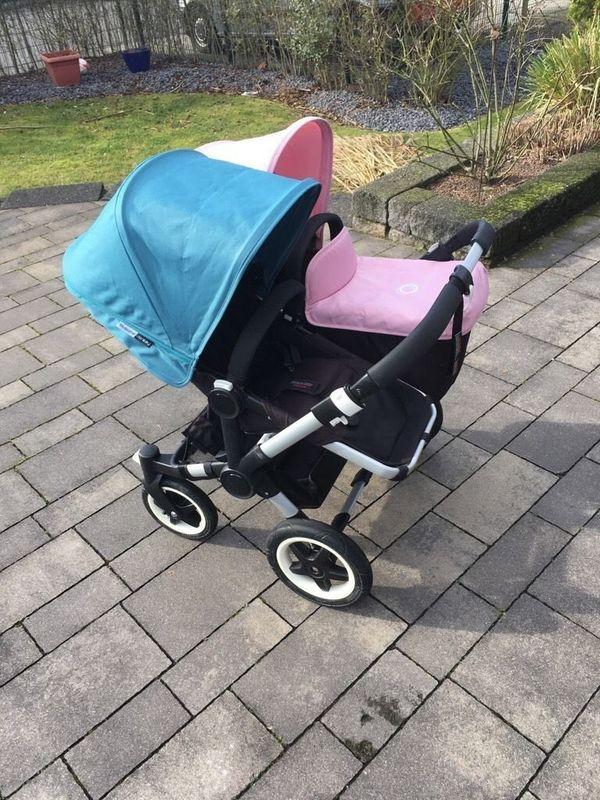 Bugaboo Donkey Geschwisterwagen 1x Babyschale